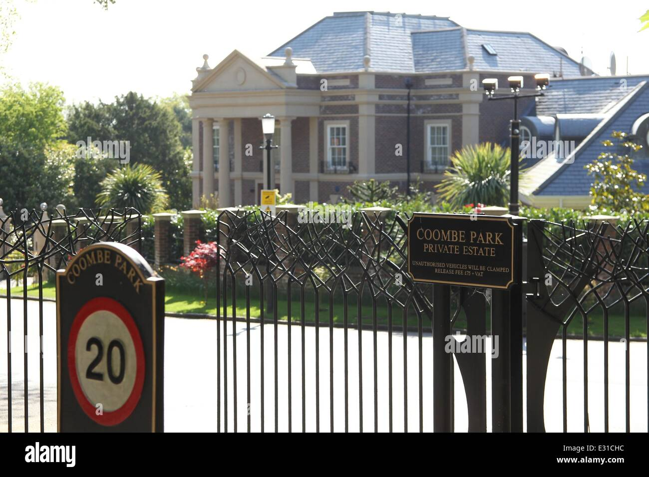 The Entrance To Coombe Park Estate In Kingston Upon Thames