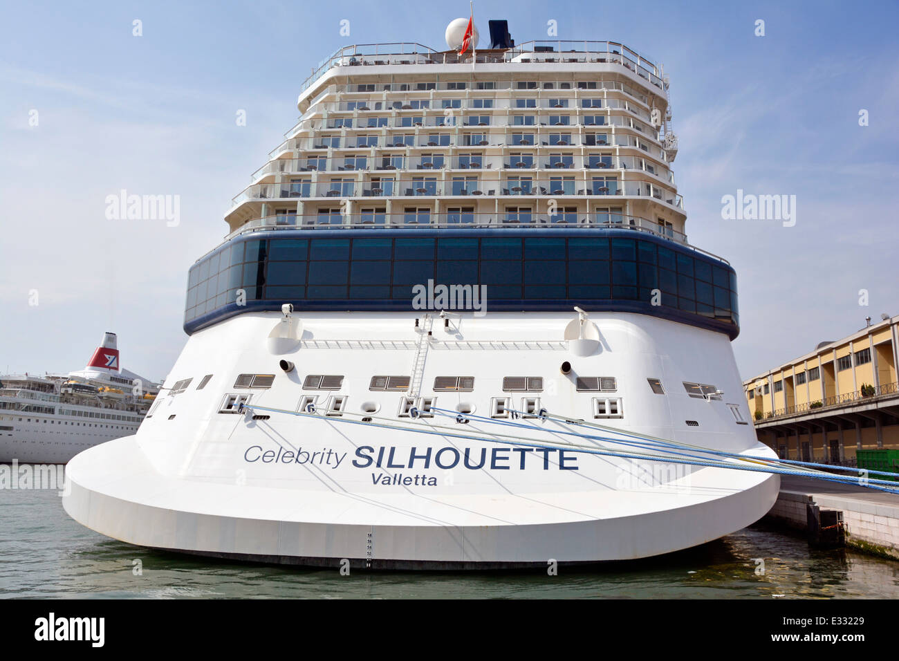 Stern View Of Celebrity Silhouette Cruise Liner And
