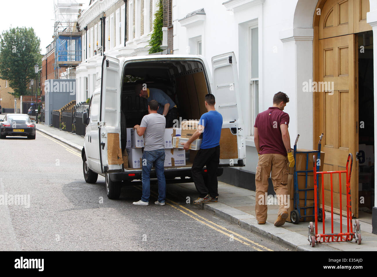 Charles Saatchi Seen At The Family Home In Chelsea As Furniture Removal Men  Load Items Into A Van Featuring: Furniture Removal Men Where: London, ...