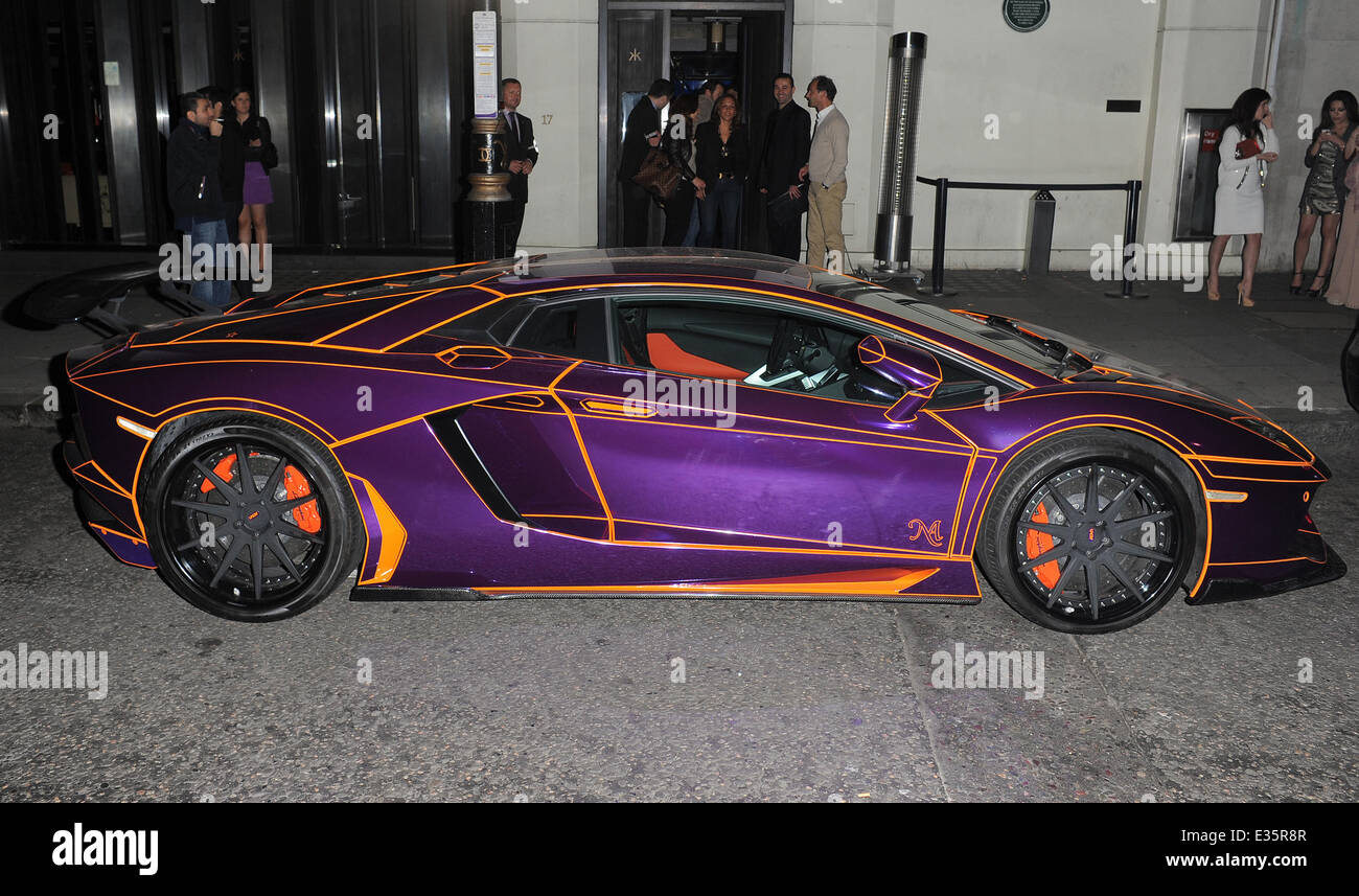 the £350,000 lamborghini aventador with a paint job that made it