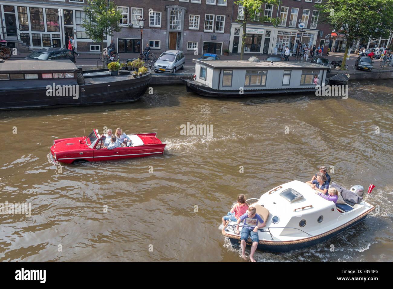 Amphicat for sale amphibious atv pictures - Vintage Amphicar 770 In The Prinsengracht An Amsterdam Canal Amphibious Auto Water Car