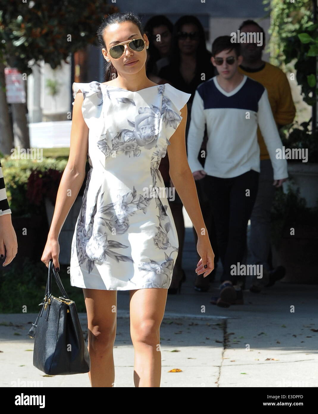 Glee\' star Naya Rivera shopping for her wedding dress at the Monique ...