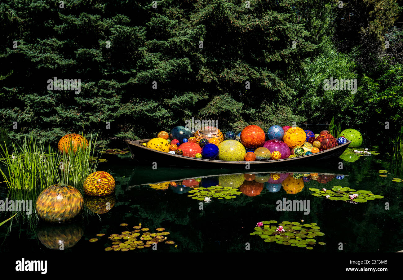 Dale Chihuly Hand Blown Glass Art Exhibit At The Denver Botanic Stock Photo Royalty Free Image