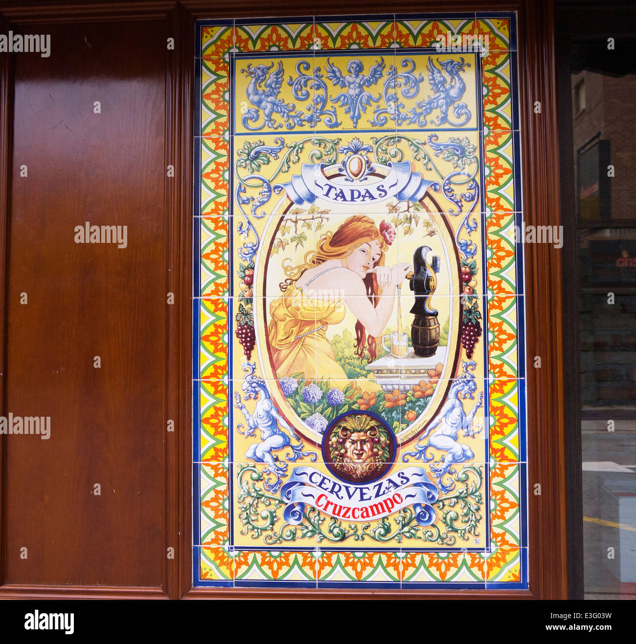 Ceramic tiles with art nouveau style in benidorm costa blanca spain ceramic tiles with art nouveau style in benidorm costa blanca spain dailygadgetfo Choice Image