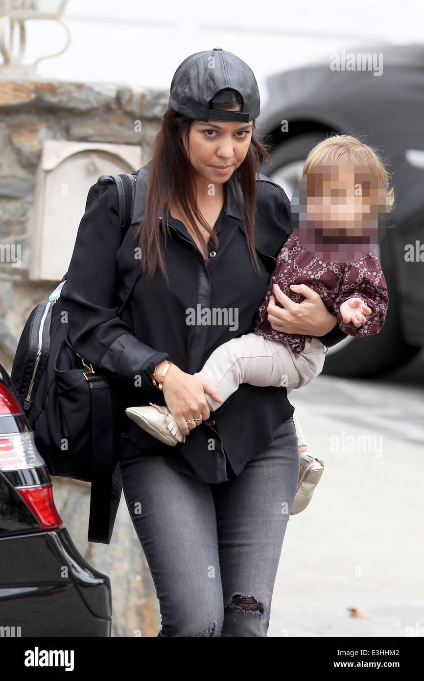 prada second hand bags - Kourtney Kardashian Carrying A Prada Diaper Bag, Takes Her ...