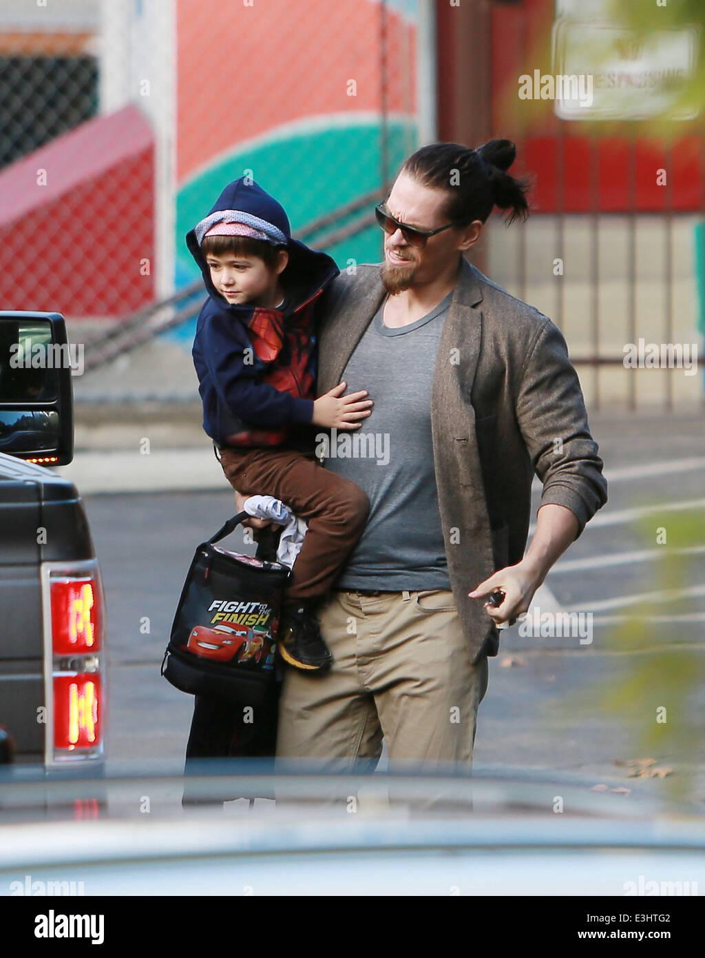 Shameless Actor Steve Howey picks up Son William Wolf from ...