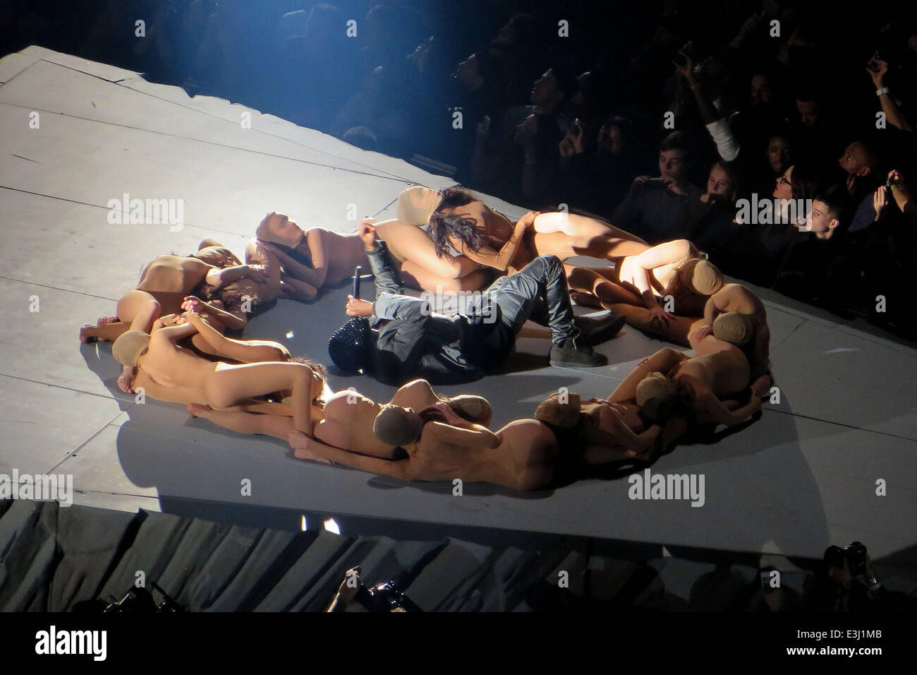 Kanye West Performs To A Sold Out Crowd At Madison Square Garden As Stock Photo Royalty Free