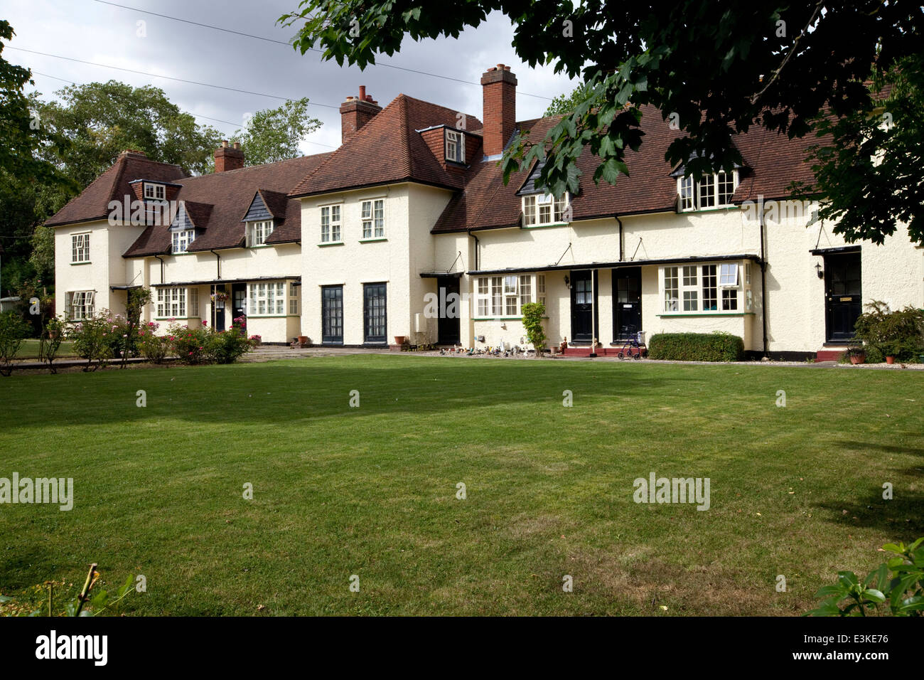 Arts And Crafts Period Houses In Letchworth The Worlds First Garden City Designed By Ebenezer Howard UK