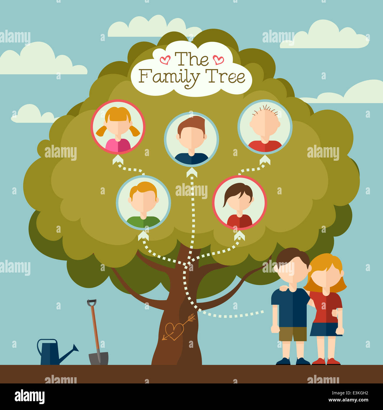 Family Tree Genealogy Vector Stock Photos & Family Tree Genealogy ...