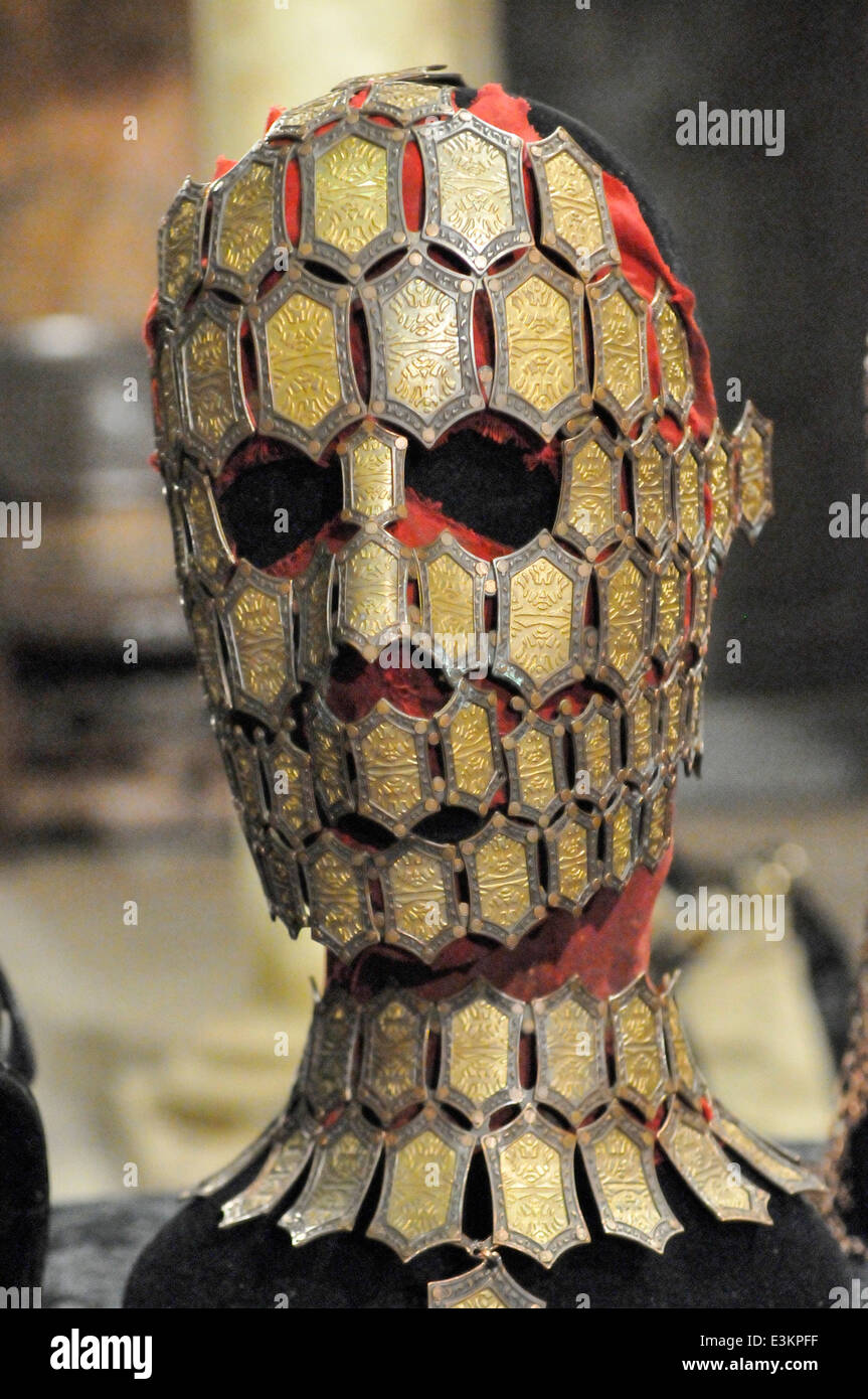 Metal face mask worn by a Quaithe in Game of Thrones Stock Photo ...