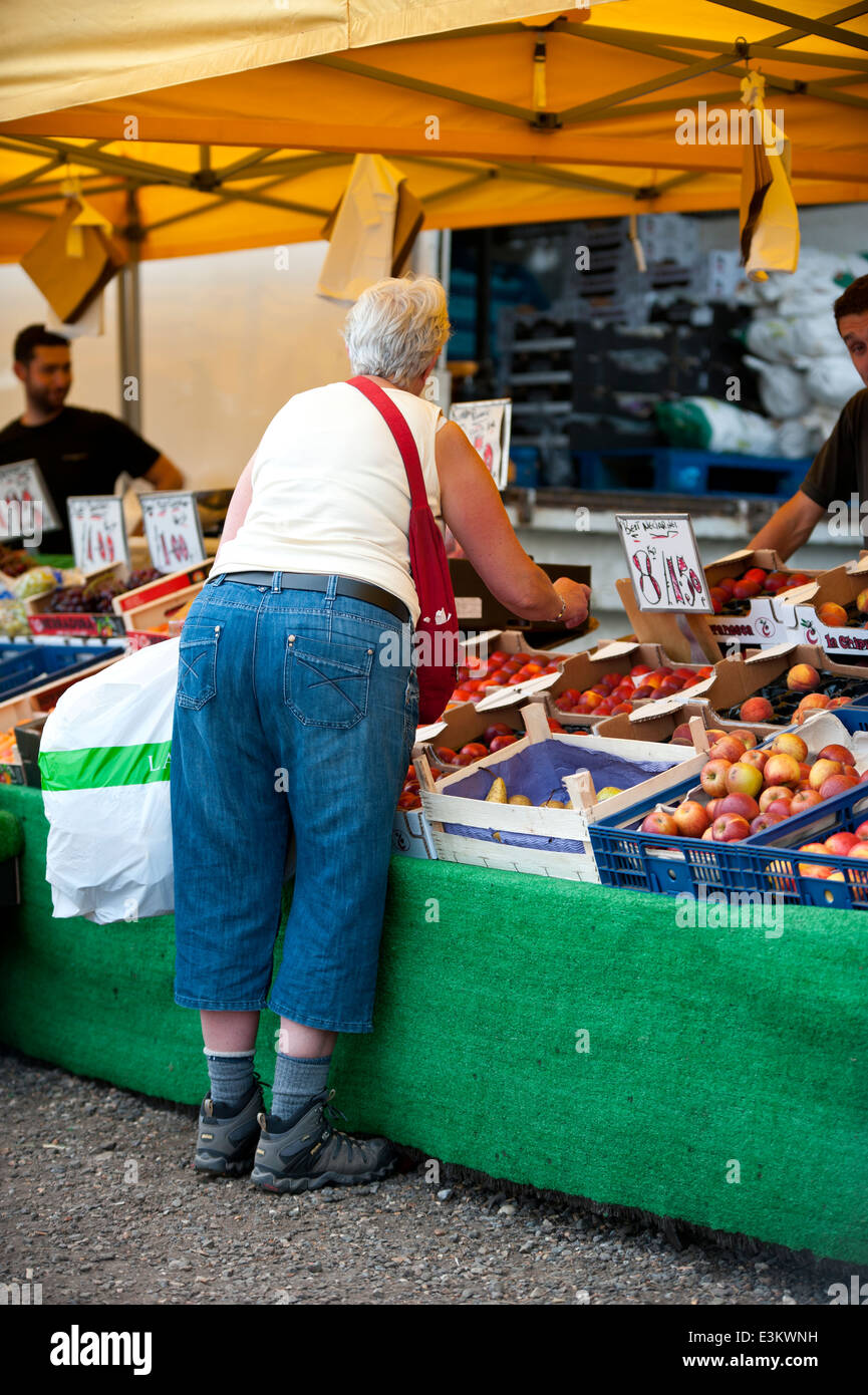 Sunday car boot sale and market stock image