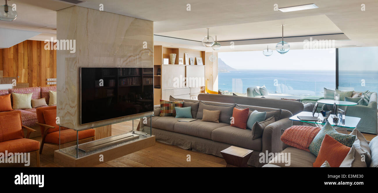 Ocean Living Room Modern Living Room With Ocean View Stock Photo Royalty Free Image