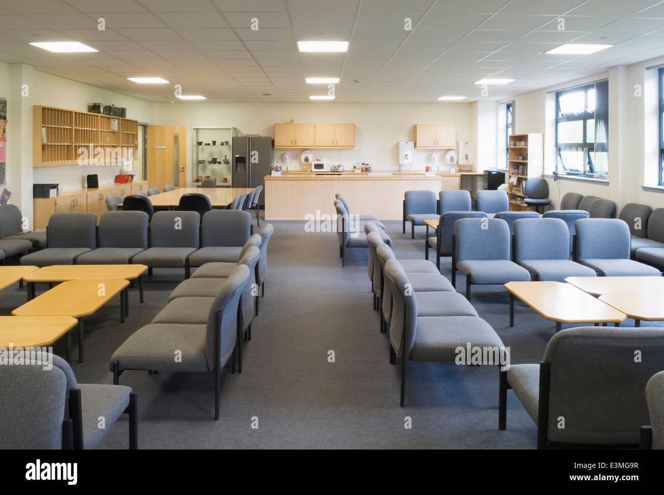 Staff Room or Teachers Lounge In A Modern Secondary