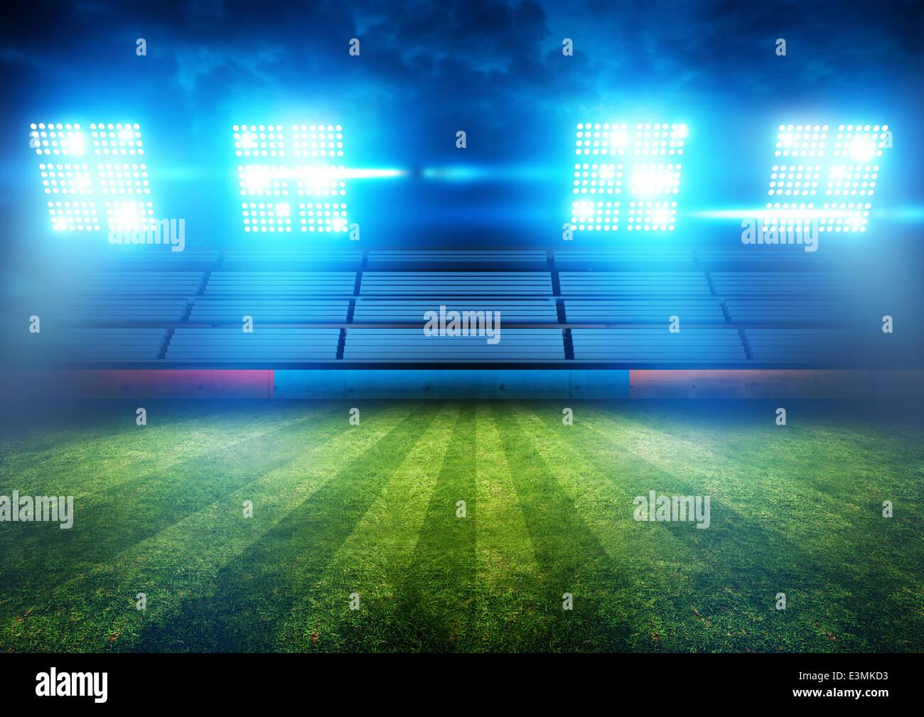 Football stadium lights art