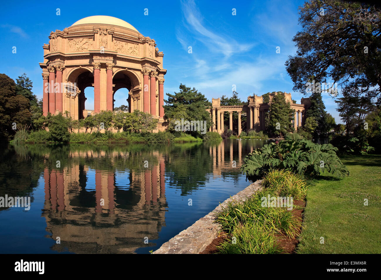 Pond And Gardens At The Roman Style PALACE OF FINE ARTS THEATRE