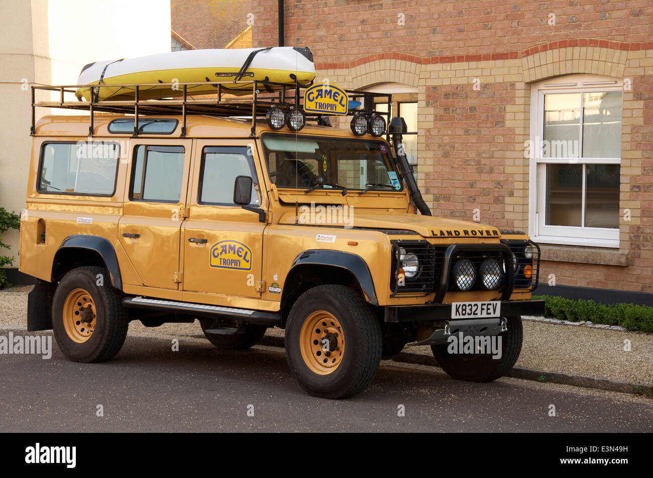 a camel trophy land rover defender a rugged off road vehicle