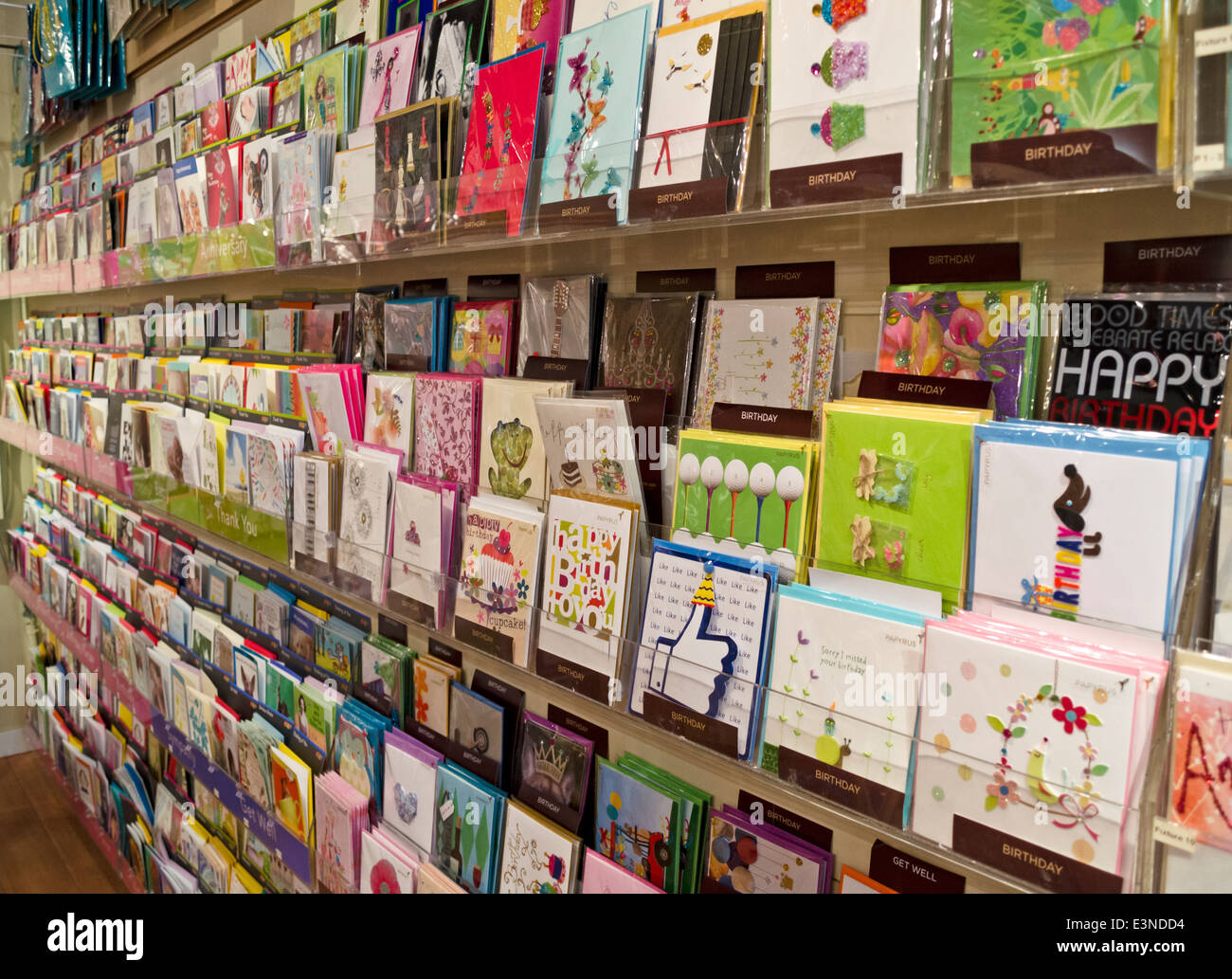 Rows of greeting cards and birthday cards on display in a card rows of greeting cards and birthday cards on display in a card store birthday cards at the forefront kristyandbryce Choice Image