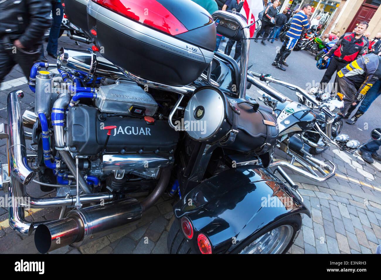 Bike Motor Parts : Jaguar car engine in trike motorbike motorcycle bike