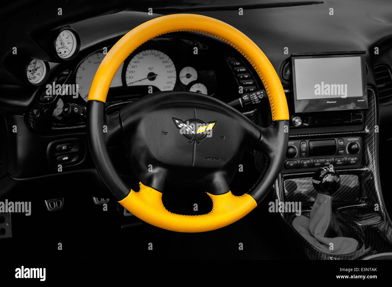 Bright Yellow Steering Wheel And Dashboard Car Auto Show - Car image sign of dashboardcar dashboard icons stock photospictures royalty free car