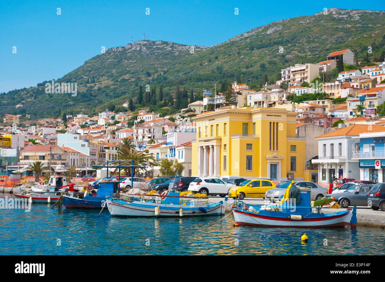 Sofouli, seaside street, Vathy, Samos Town, Samos island ...