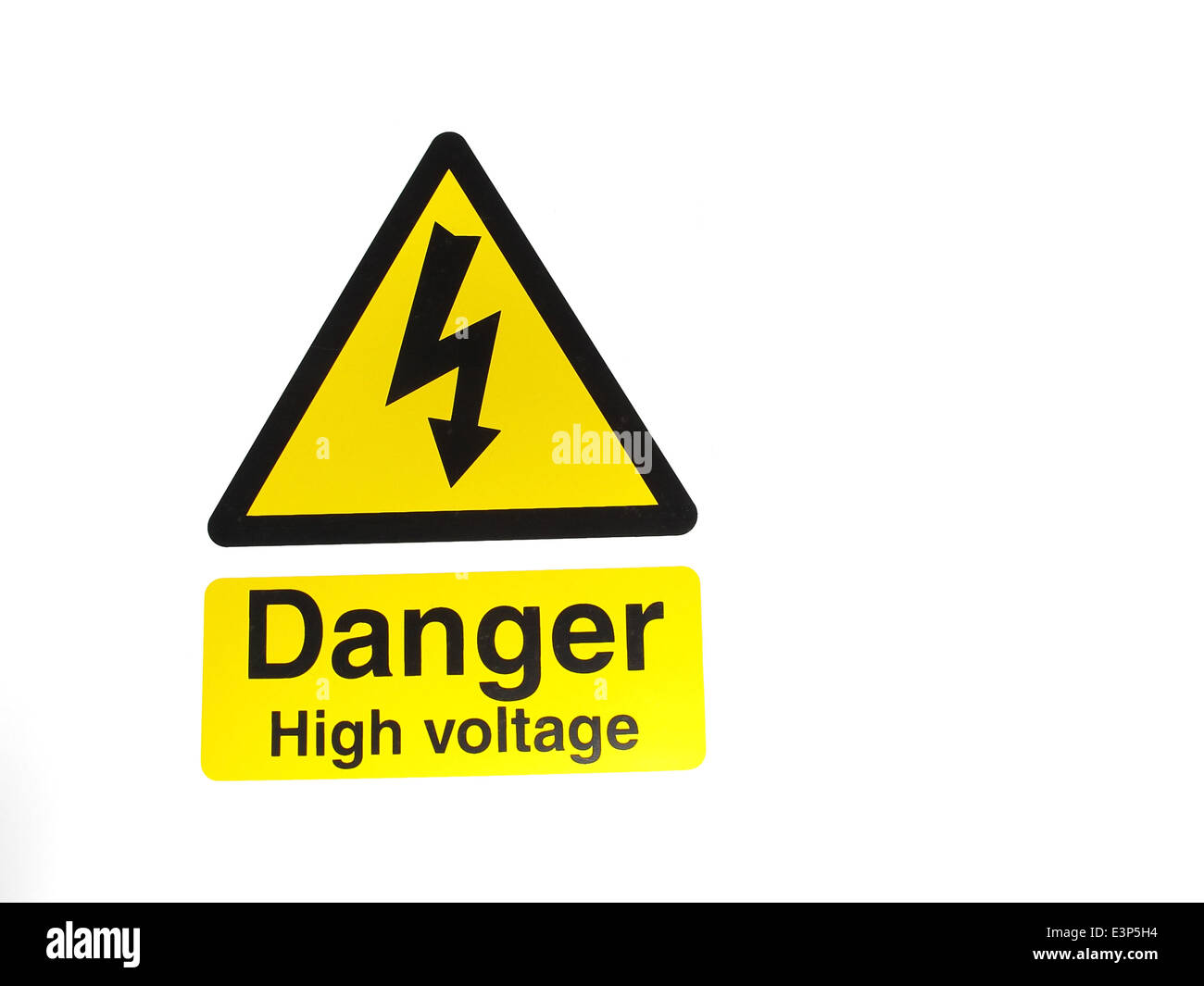 High voltage sign stock photos high voltage sign stock images alamy an electrical warning sign showing danger high voltage stock image buycottarizona Images