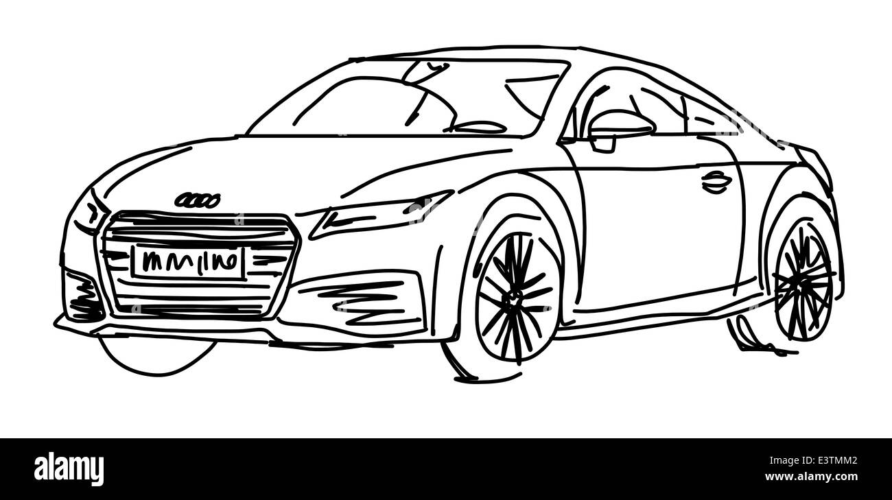 Illustration Of An Audi Car Stock Photo Royalty Free Image - Audi car drawing