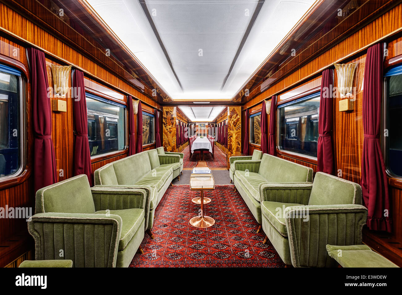 interior of luxury old train carriage stock photo royalty free image 71244849 alamy. Black Bedroom Furniture Sets. Home Design Ideas