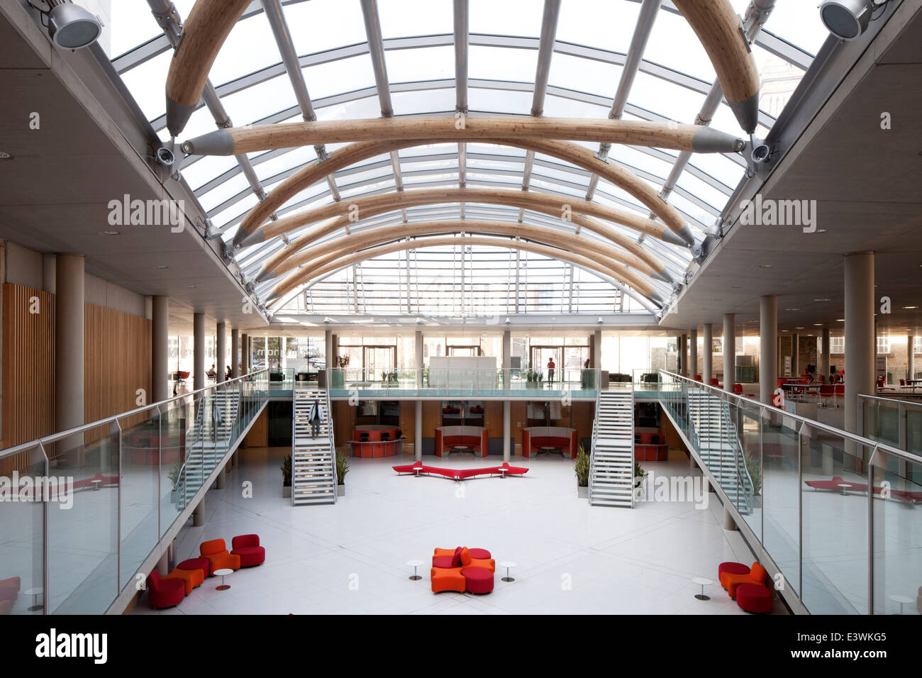 The Atrium Arkwright And Newton Buildings Interior Of Nottingham Trent University UK