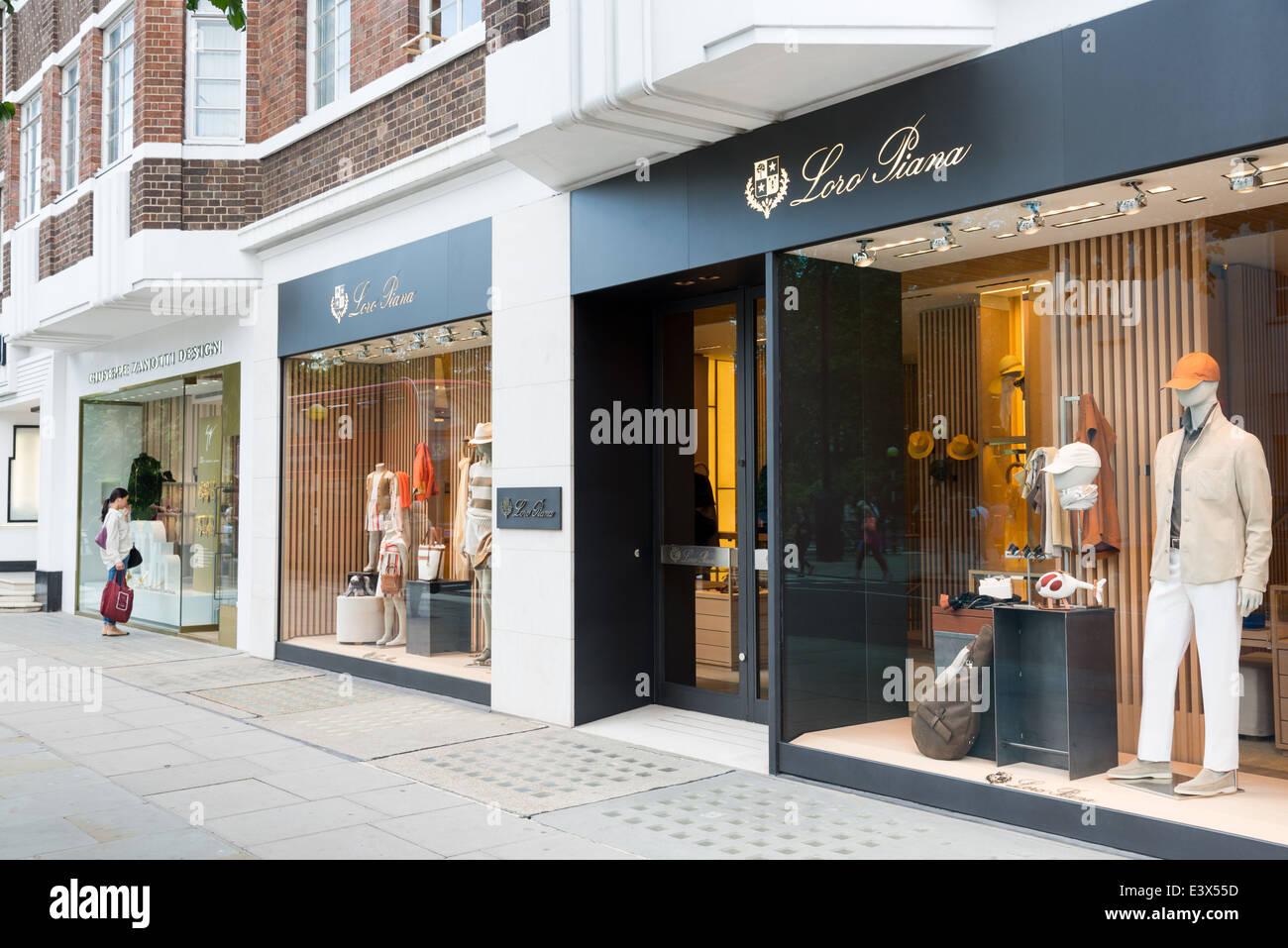 loro piana luxury designer clothes shop on sloane street london stock