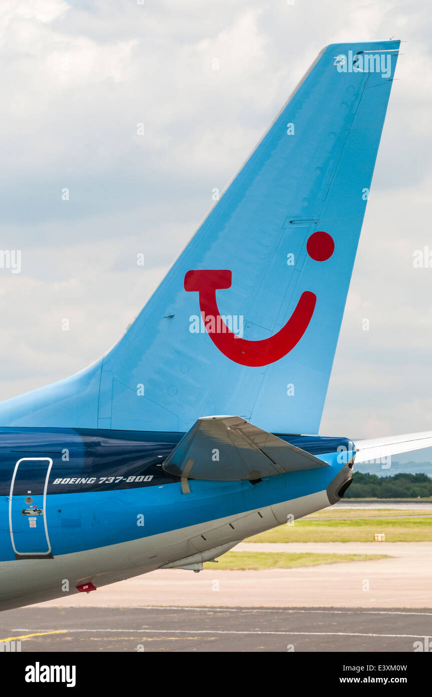 Close up of the tail of a thomson boeing 737 aircraft stock photo close up of the tail of a thomson boeing 737 aircraft buycottarizona Image collections