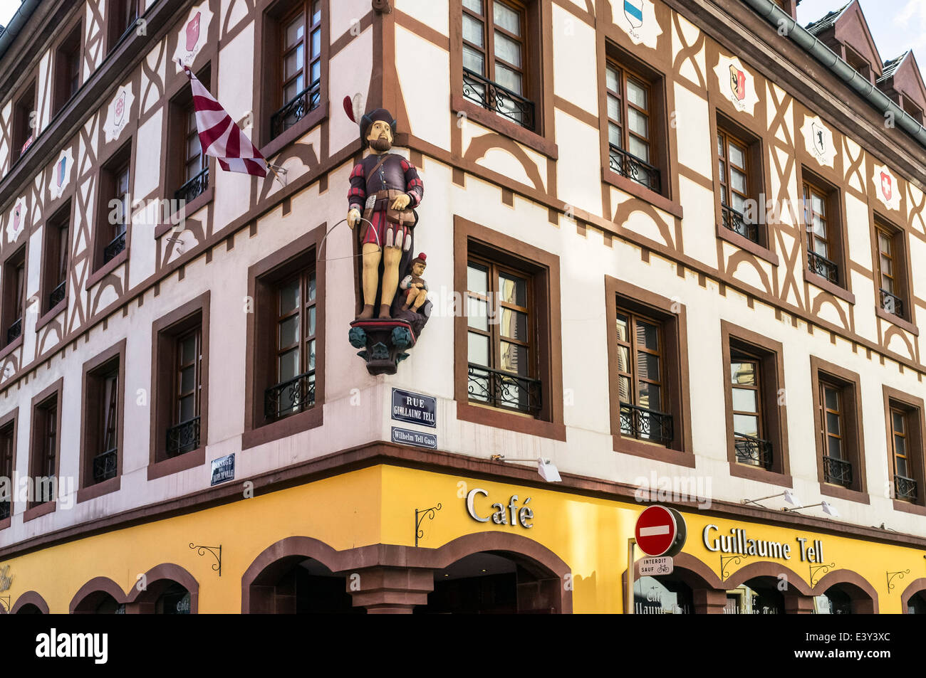 guillaume tell cafe mulhouse alsace france stock photo 71281236 alamy. Black Bedroom Furniture Sets. Home Design Ideas