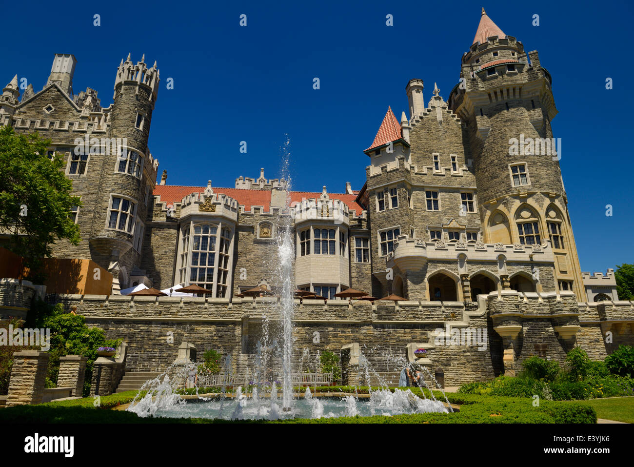 Gothic Revival Architecture Of Casa Loma Castle In Toronto