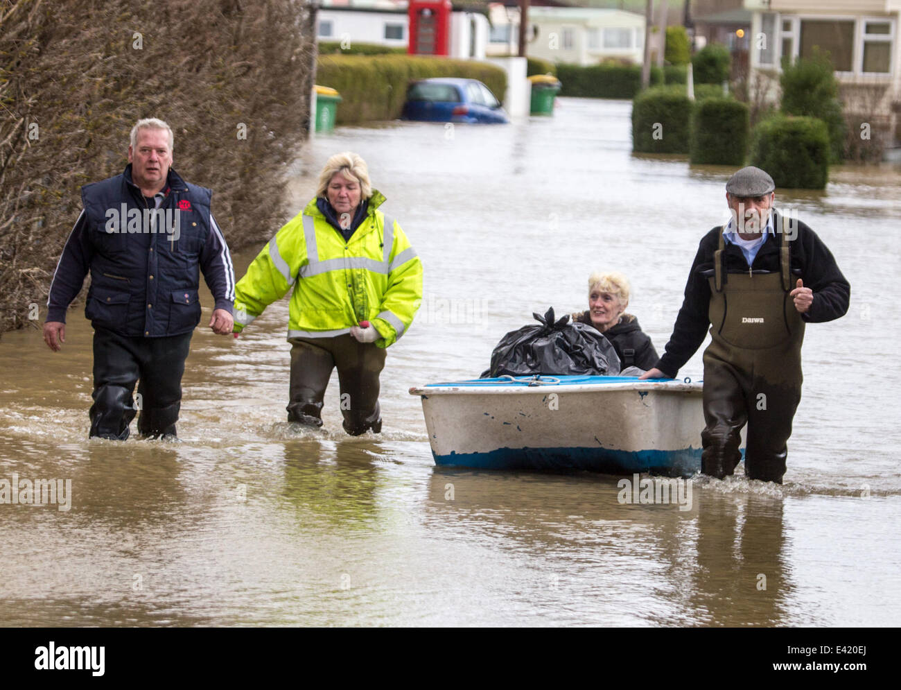 Residents Of The Little Venice Caravan Park Were Ordered To Be Evacuated From Their Homes As Villiage Yalding Suffered Major Floods After Country