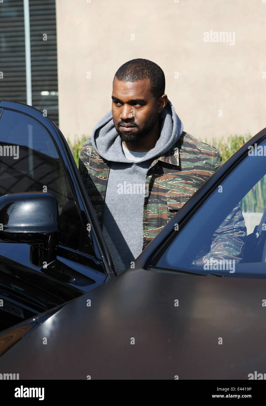 Kim Kardashian And Kanye West Shopping In Beverly Hills At High End Furniture  Store Bulthaup With Baby Daughter North West Featuring: Kanye West Where:  Los ...