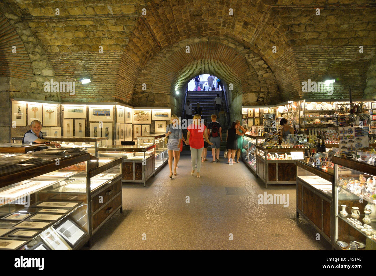 basements inside palace split county croatia