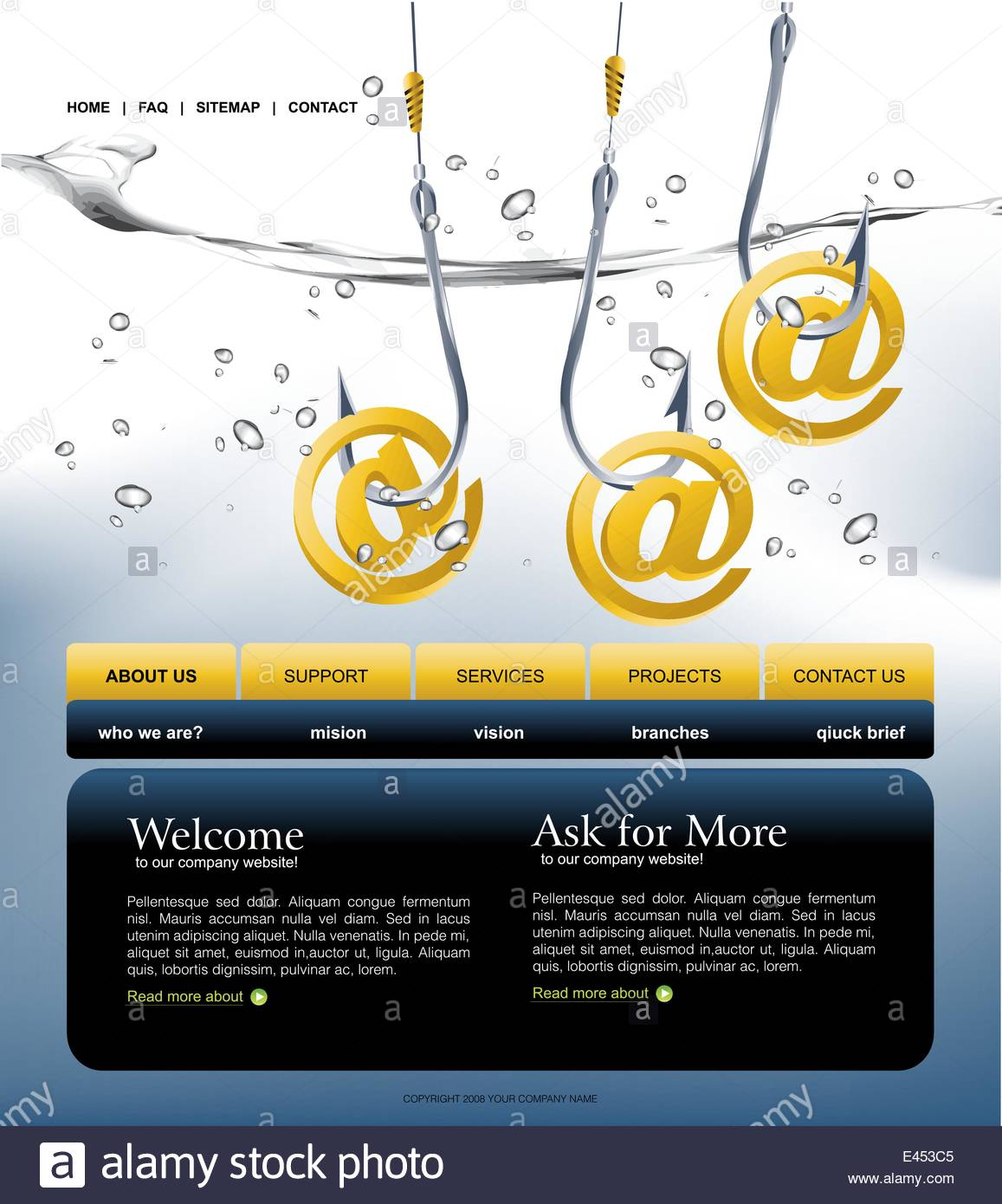 Website template easy to use in adobe photoshop flash or stock stock vector website template easy to use in adobe photoshop flash or illustrator to export it to html format just edit or replace text an pronofoot35fo Gallery