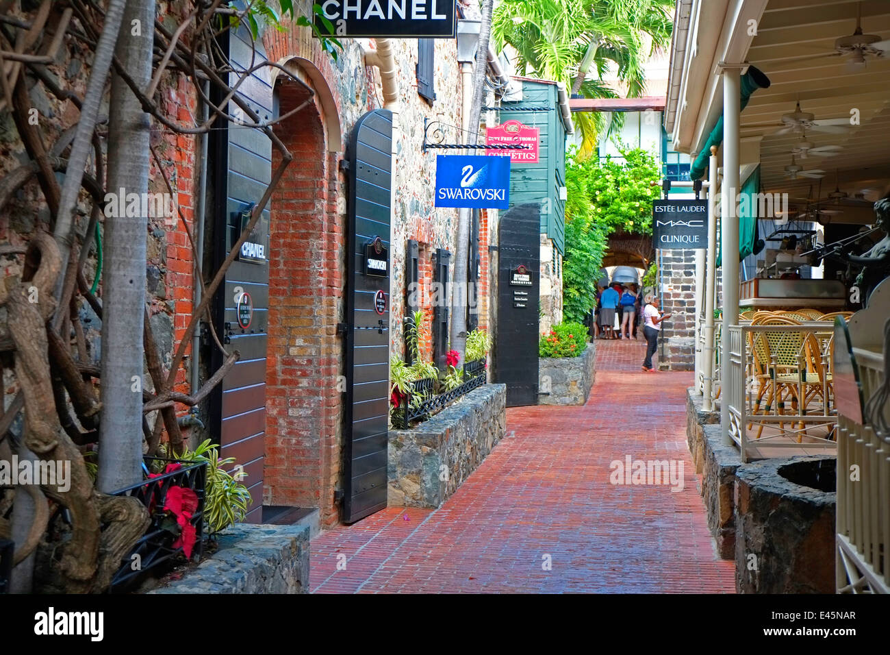 quaint shopping street st thomas usvi us virgin islands