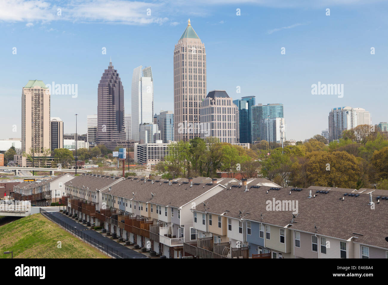apartment buildings and city skyline atlanta georgia usa stock photo royalty free image. Black Bedroom Furniture Sets. Home Design Ideas