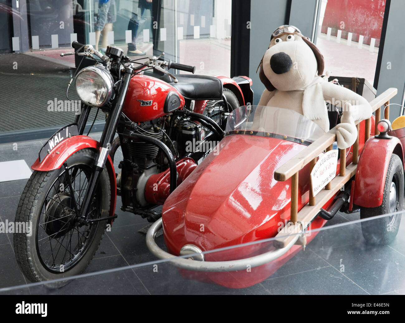 The Wallace And Gromit Motorbike And Sidecar On Exhibition