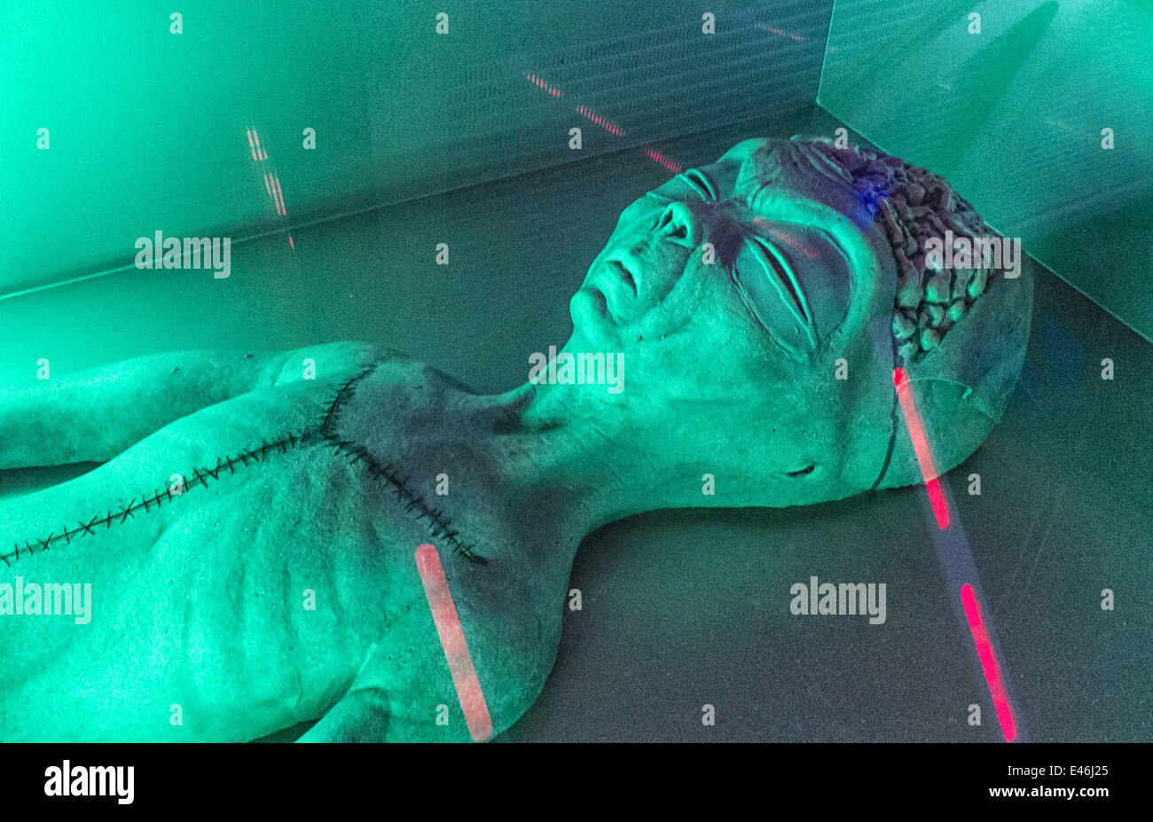 An Alien Autopsy At UFO Attraction In Myrtle Beach South Carolina