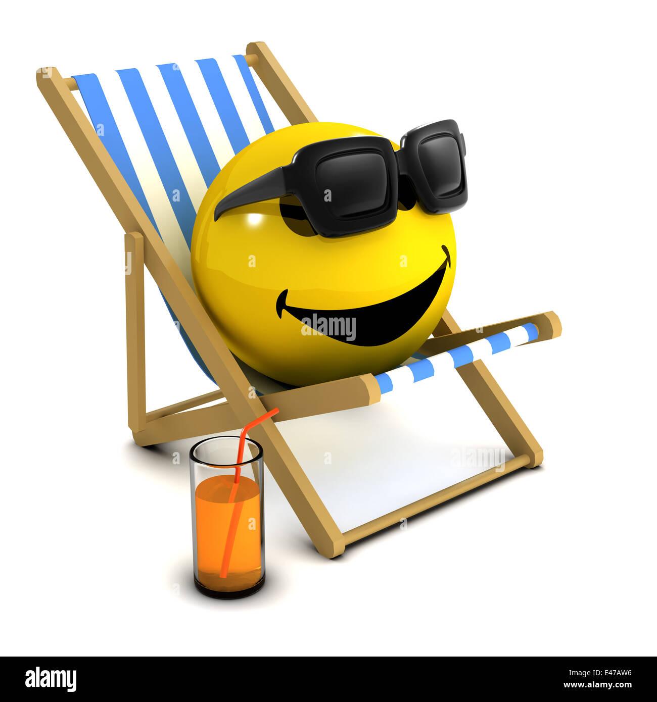 smiley entspannt
