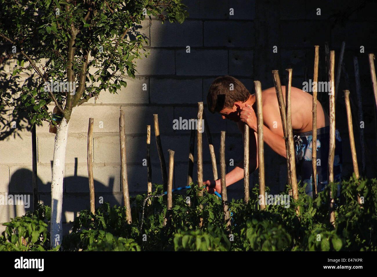 july 4 2014 kosovo arbnor beqiri 17 tending to his family u0027s
