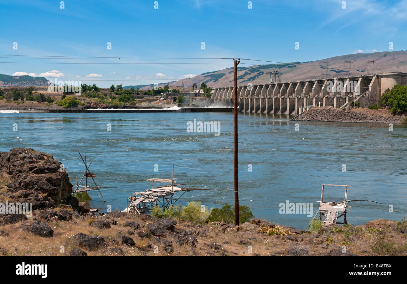 Oregon the dalles dam on the columbia river native for Oregon free fishing
