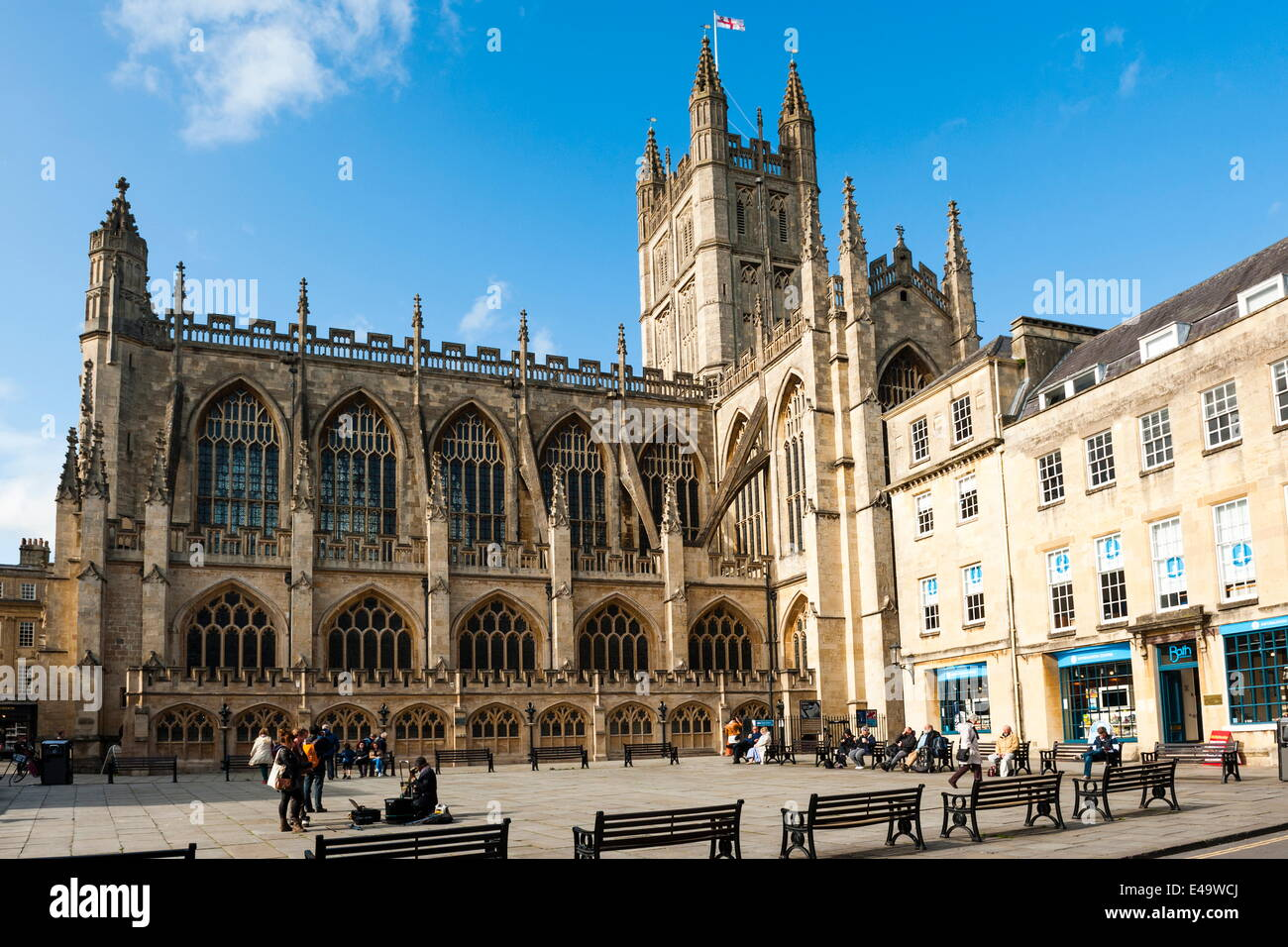 bath abbey bath unesco world heritage site avon and somerset stock photo royalty free image. Black Bedroom Furniture Sets. Home Design Ideas