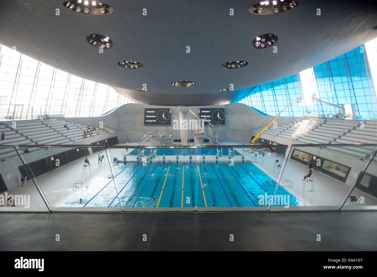The Aquatic Centre Queen Elizabeth Olympic Park Stratford London Stock Photo Royalty Free