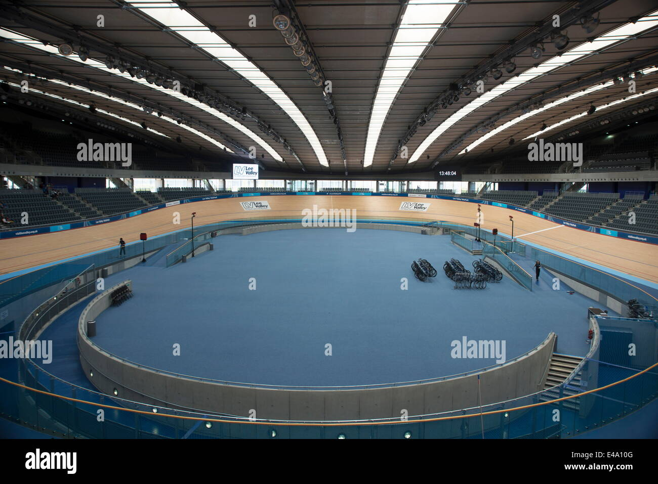 Inside Bicycle Track In The Velodrome Queen Elizabeth Olympic Park Stratford London E20 England United Kingdom Europe