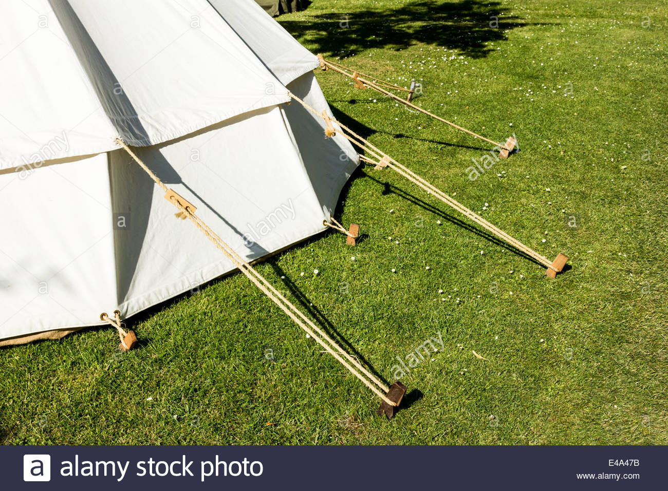 Traditional Tent And Wooden Tent Pegs Stock Photo Royalty