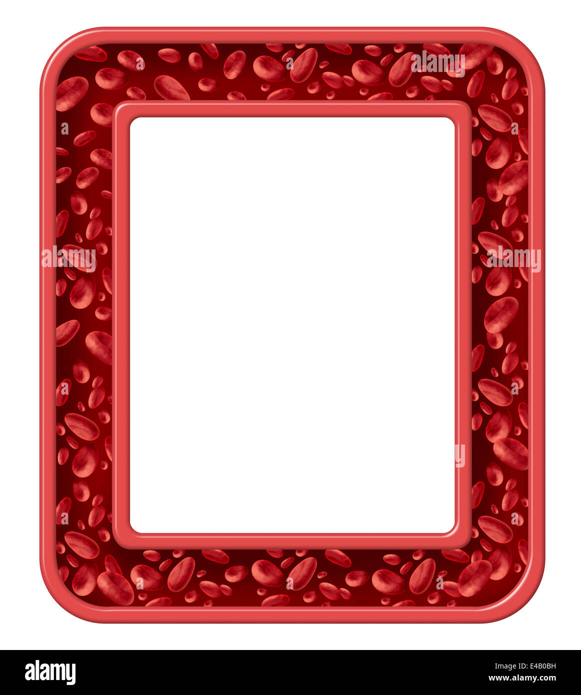 Human blood frame and healthy circulation border design for Html cell border