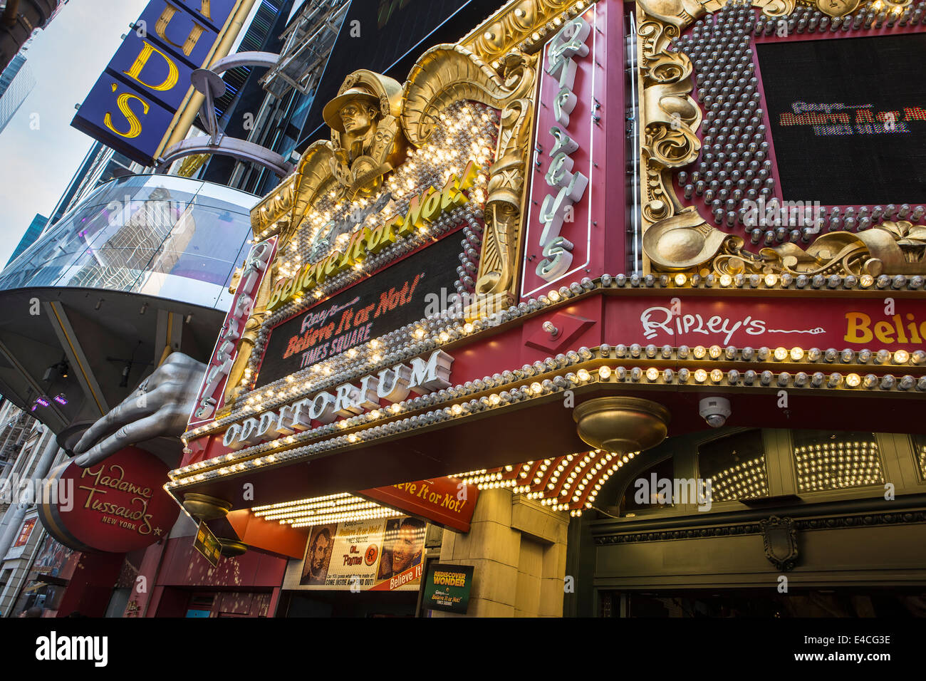 Ripley s believe it or not franchise is pictured in the new york city borough of manhattan ny the nyc