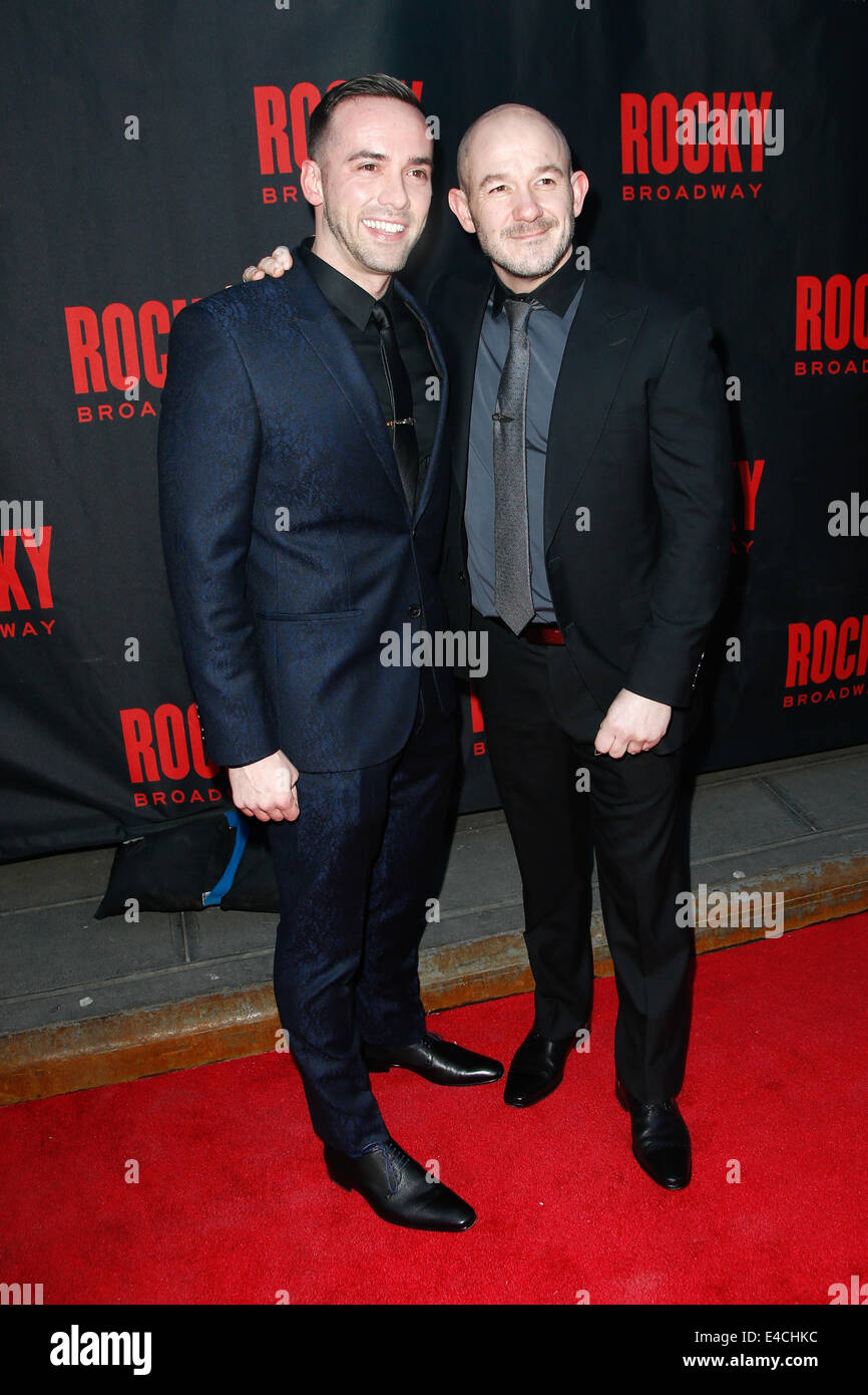choreographer stephen hoggett r and guest attend the u0027rocky